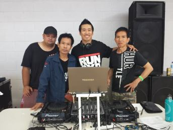 """""""Real Hero"""" Muay Thai event in Dec 2014 with the audio guys"""