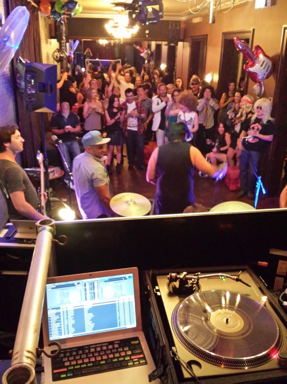 DJing Rock n'Roll Classics at Tony's 40th Birthday 2015
