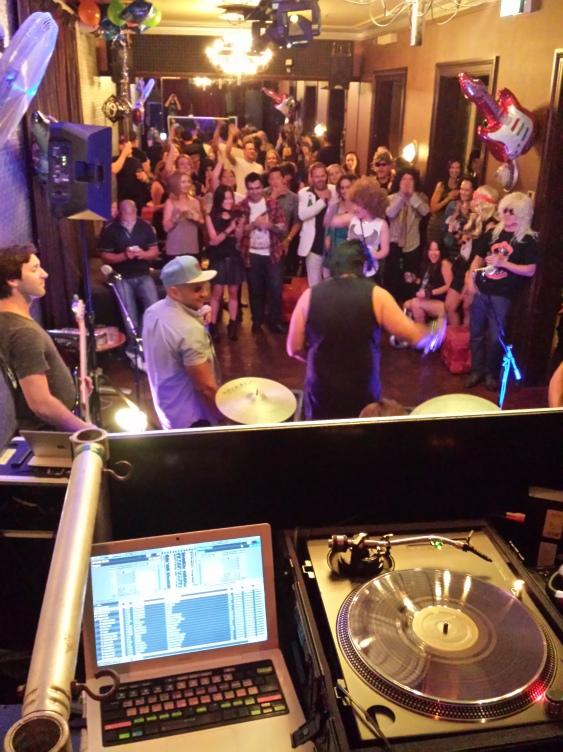DJing Rock n'Roll Classics at Tony's 40th Birthday 2015
